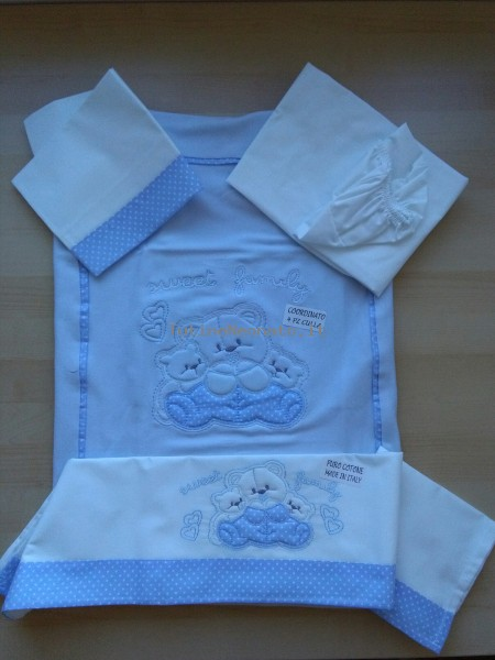 Coordinated image of cotton cradle. Colour light blue, one size Light blue One size