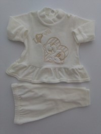 Picture baby footie outfit clinic chenille love. Colour creamy white, size 3-6 months