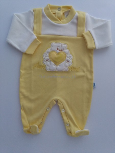 Image cotton baby footie interlock love footie. Colour yellow, size 0-1 month Yellow Size 0-1 month