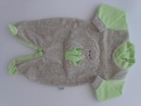 Chenille baby footie baby footie image baby bear small baby. Colour pistacchio green, size 3-6 months