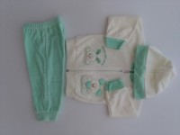 Picture tracksuit hooded bunnies heart friends. Colour green, size 6-9 months