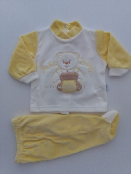 Picture baby footie chenille outfit pocket baby. Colour yellow, size 0-1 month Yellow Size 0-1 month