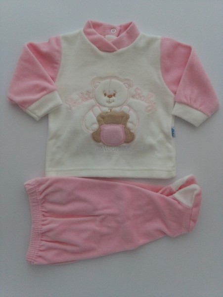 Picture baby footie chenille outfit pocket baby. Colour pink, size 0-1 month Pink Size 0-1 month