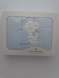 Picture accompanied cotton crib flies flying cradle. Colour light blue, one size
