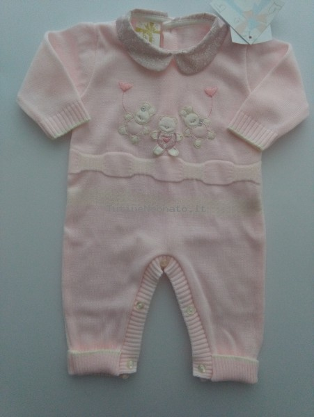 Mixed wool tuton image. Colour pink, size 1-3 months Pink Size 1-3 months