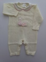 Mixed wool tuton image. Colour creamy white, size 1-3 months