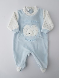 Chenille baby footie baby bear sweety lovely image of. Colour light blue, size 00