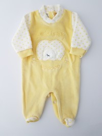 Chenille baby footie baby bear sweety lovely image of. Colour yellow, size 00