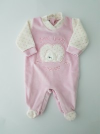 Chenille baby footie baby bear sweety lovely image of. Colour pink, size 00