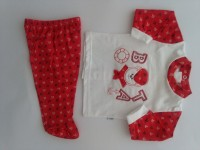 image baby outfit baby bear nostromo. Colour red, size 0-1 month