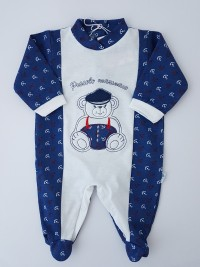 Image cotton baby footie jersey jersey small sailor. Colour blue, size 0-1 month