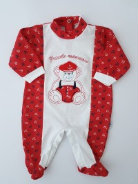 Image cotton baby footie jersey jersey small sailor. Colour red, size 6-9 months