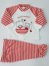 image baby outfit baby bear and kitten fishermen. Colour red, size 3-6 months