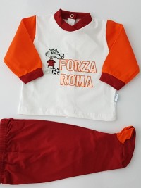 Image baby footie outfit cotton force rome. Colour white, size 6-9 months