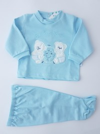 Picture baby footie piquet outfit playful outfits. Colour light blue, size 3-6 months