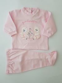 Picture baby footie piquet outfit playful outfits. Colour pink, size 3-6 months