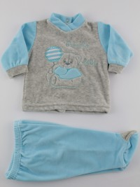 Baby footie outfit clinic chenille small baby.. Colour turquoise, size 1-3 months
