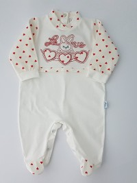 Image cotton baby footie jersey jersey love bunny. Colour red, size 6-9 months