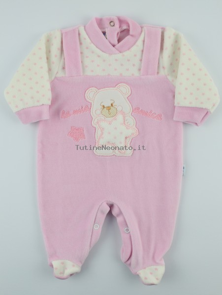 Picture baby footie chenille my star friend. Colour pink, size 0-1 month Pink Size 0-1 month