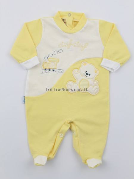 Baby footie jersey ciufciuf image. Colour yellow, size 3-6 months Yellow Size 3-6 months