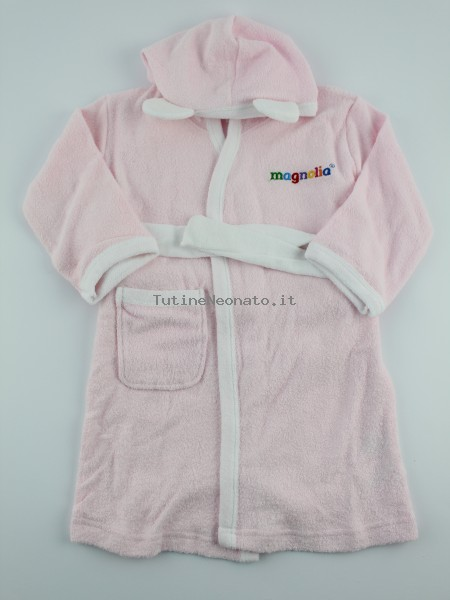 Picture accompanied cotton bathrobe bathrobe. Colour pink, size 9-12 months Pink Size 9-12 months