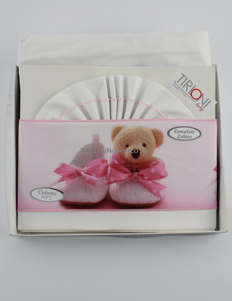 Picture Accompanying Cotton Bear Slippers Cotton Baby Cotton. Colour pink, one size Pink One size