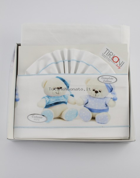 Picture Accompanying Cotton Bears Pajamas Cotton Bed. Colour light blue, one size Light blue One size