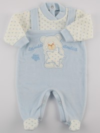 Picture baby footie chenille my star friend. Colour light blue, size 0-1 month