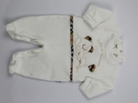 Image cotton baby footie interlock all to nannna. Colour creamy white, size 1-3 months