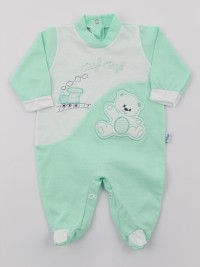 Baby footie jersey ciufciuf image. Colour green, size 3-6 months