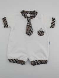 Picture baby footie straw necktie tie. Colour grey, size 3-6 months