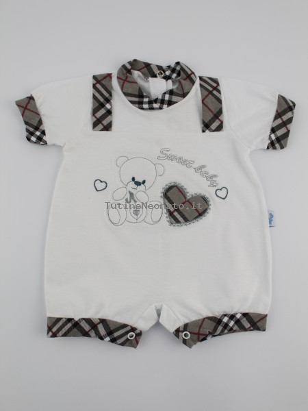 Picture baby footie straw boy sweet baby. Colour grey, size 1-3 months Grey Size 1-3 months