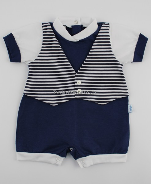 Picture baby footie straw waistcoat. Colour blue, size 1-3 months Blue Size 1-3 months