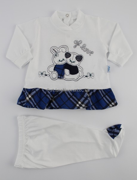 Image baby footie cotton outfit j love. Colour blue, size 3-6 months Blue Size 3-6 months