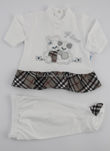 Image baby footie cotton outfit j love. Colour grey, size 3-6 months Grey Size 3-6 months
