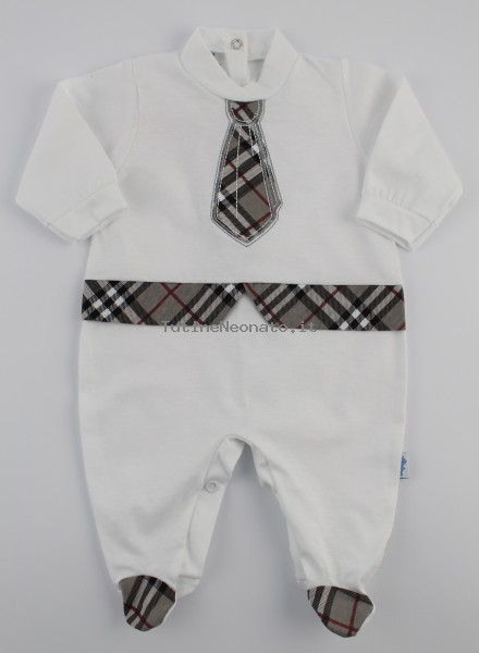 Image baby footie jersey Scottish tie. Colour grey, size 3-6 months Grey Size 3-6 months