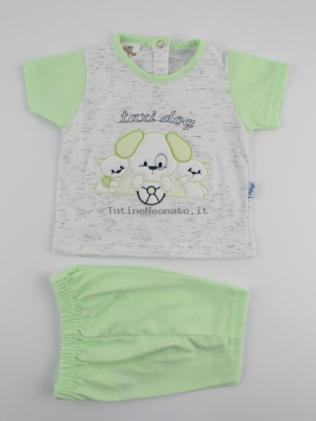 Picture baby footie outfit cotton jersey taxi dog. Colour pistacchio green, size 6-9 months Pistacchio green Size 6-9 months