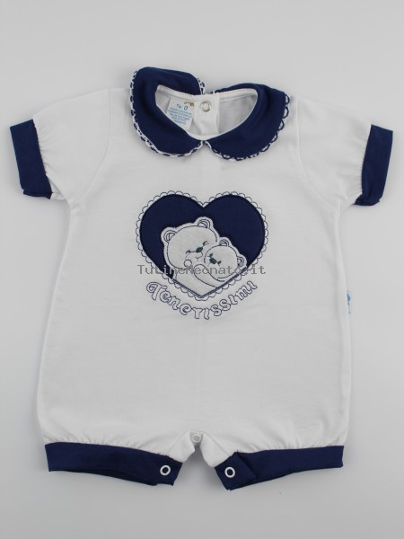 Picture baby footie straw cute romper. Colour blue, size 6-9 months Blue Size 6-9 months