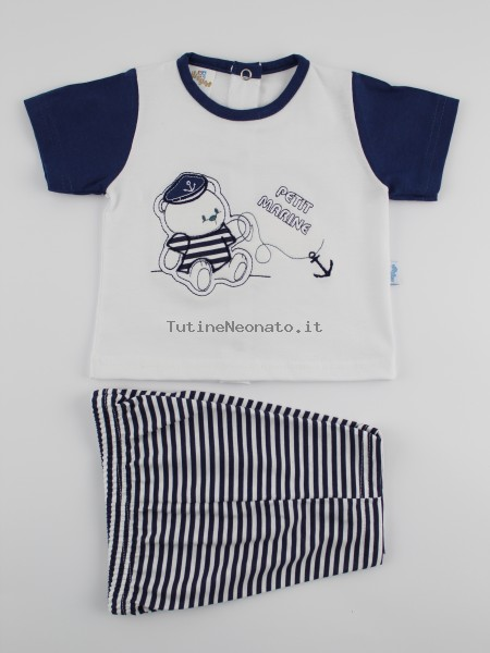 Picture baby footie jersey outfit the petit marinas. Colour white, size 9-12 months White Size 9-12 months