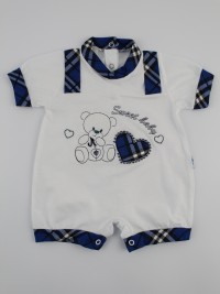 Picture baby footie straw boy sweet baby. Colour blue, size 3-6 months