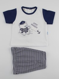 Picture baby footie jersey outfit the petit marinas. Colour white, size 9-12 months