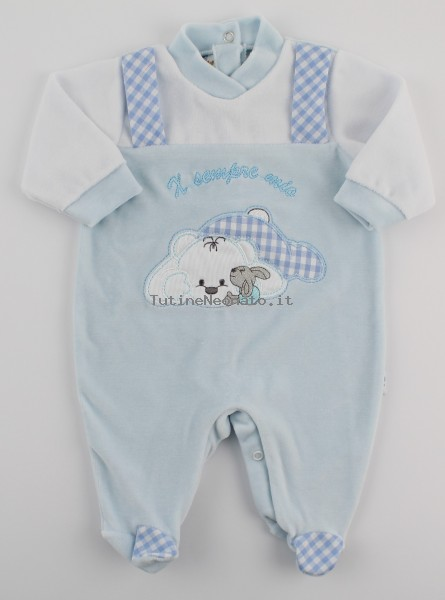 Picture baby chenille footie x always my. Colour light blue, size 1-3 months Light blue Size 1-3 months