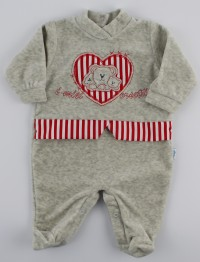 Picture baby chenille footie my bears. Colour grey, size 6-9 months