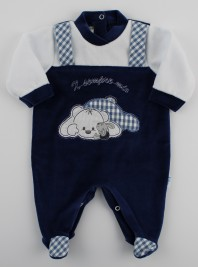 Picture baby chenille footie x always my. Colour blue, size 6-9 months