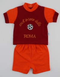 Image baby footie outfit cotton fan rome. Colour red, size 1-3 months
