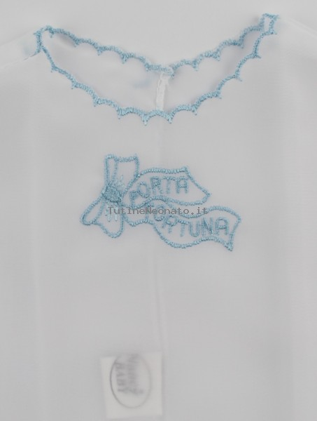 Newborn baby silk blouse picture. Colour light blue, one size Light blue One size