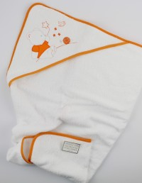 Image with cotton bathtub. Colour orange, one size
