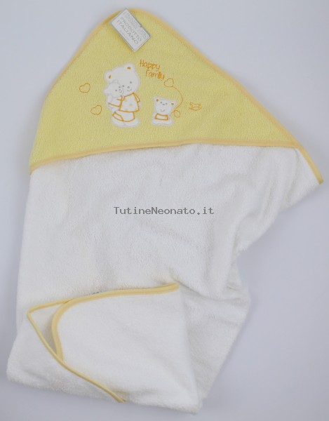 Picture accompanying baby bath bears family cotton. Colour yellow, one size Yellow One size