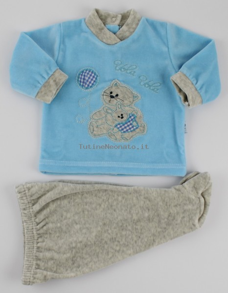 Picture baby footie chenille outfit flies balloon. Colour turquoise, size 0-1 month Turquoise Size 0-1 month