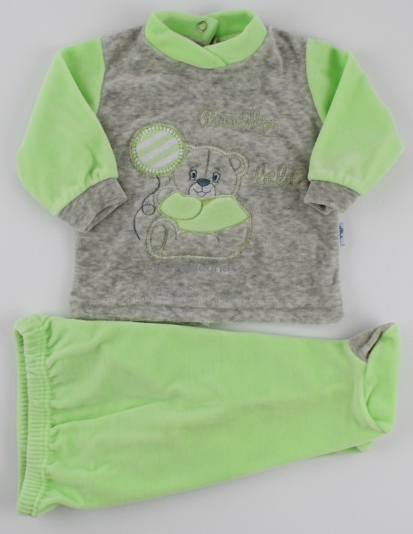 Baby footie outfit clinic chenille small baby.. Colour pistacchio green, size 0-1 month Pistacchio green Size 0-1 month